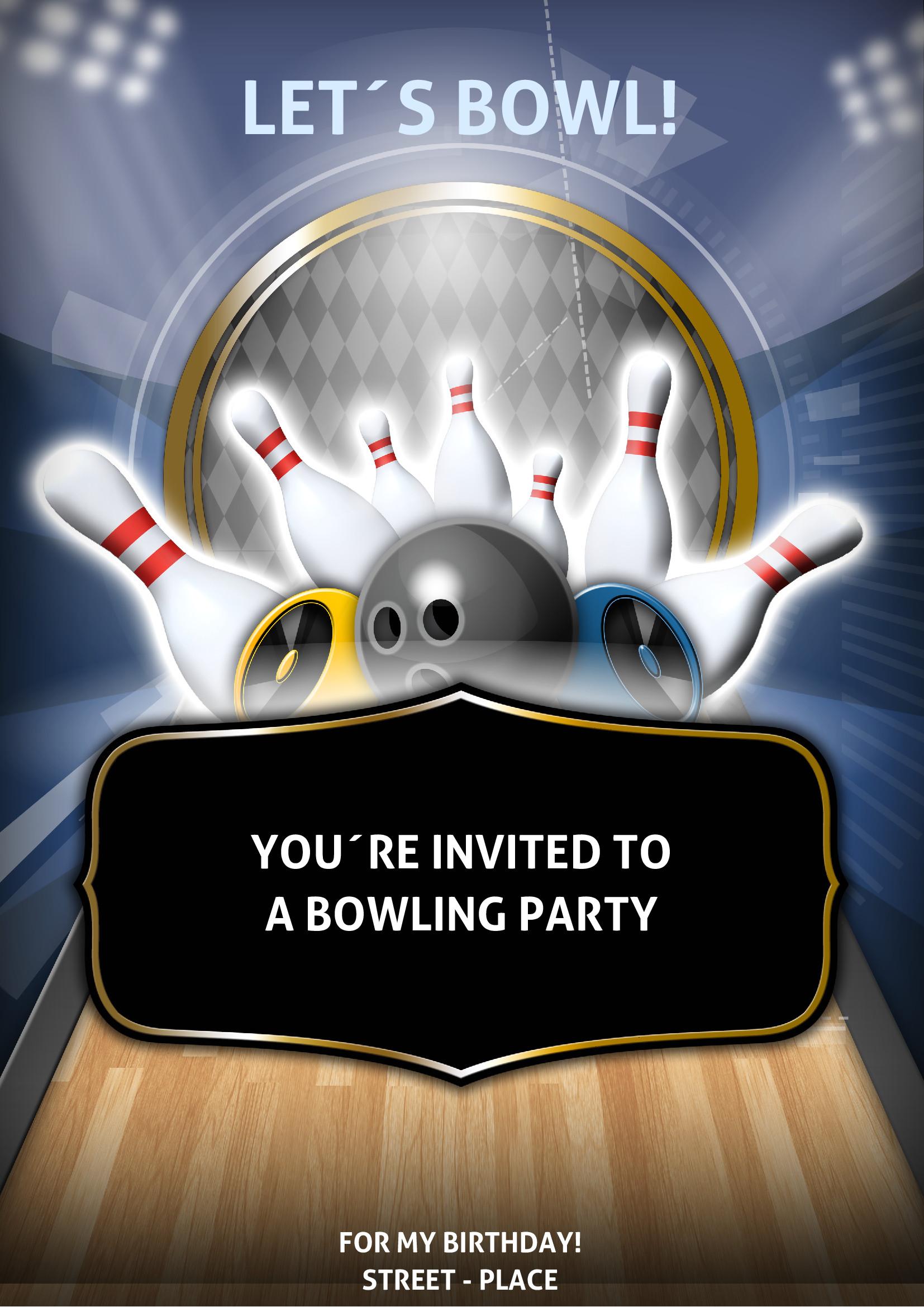 flyer und handzettel  bowling party flyer von chris