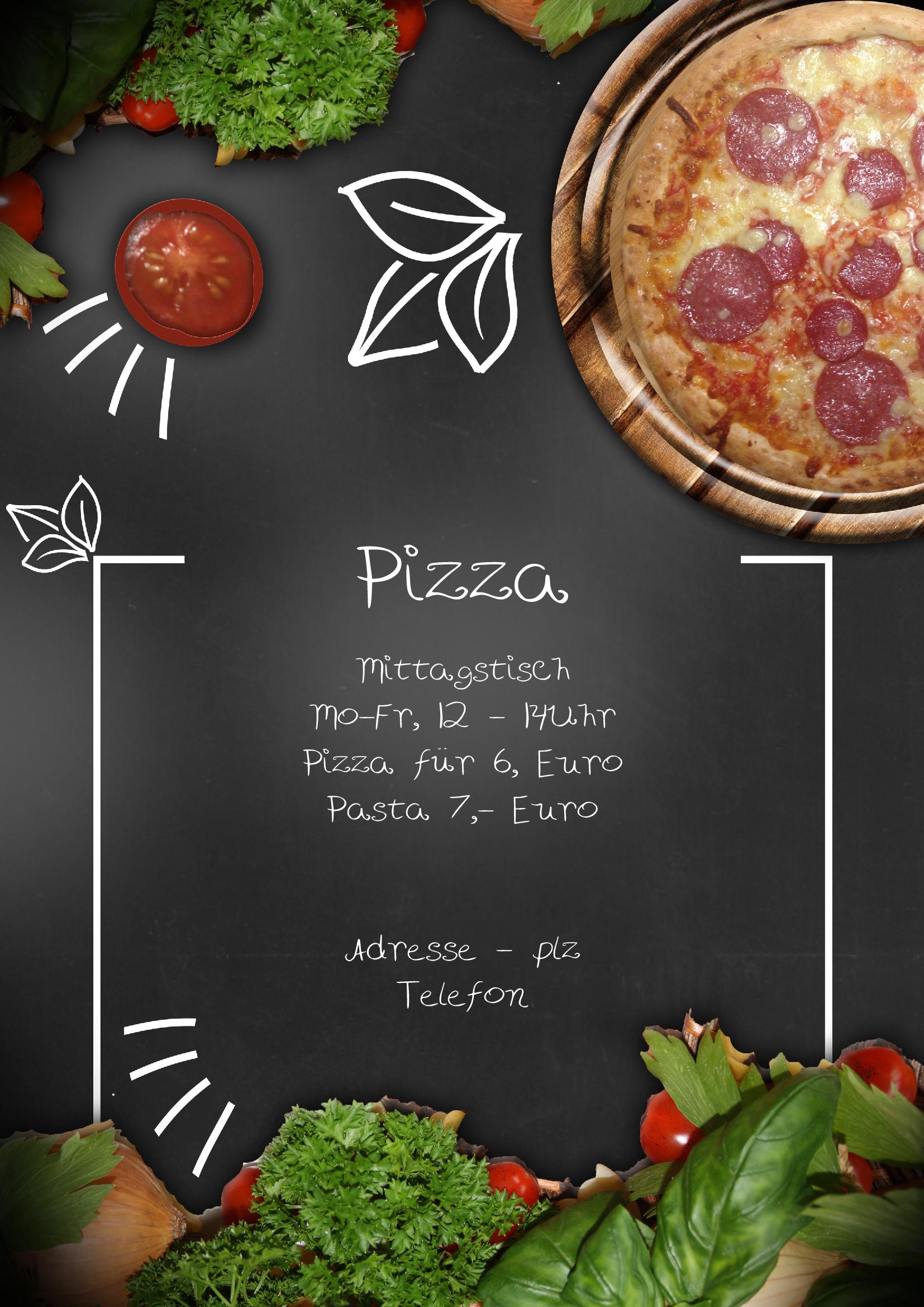 speisekarten und men u00fckarten  italian flavor pizza shop