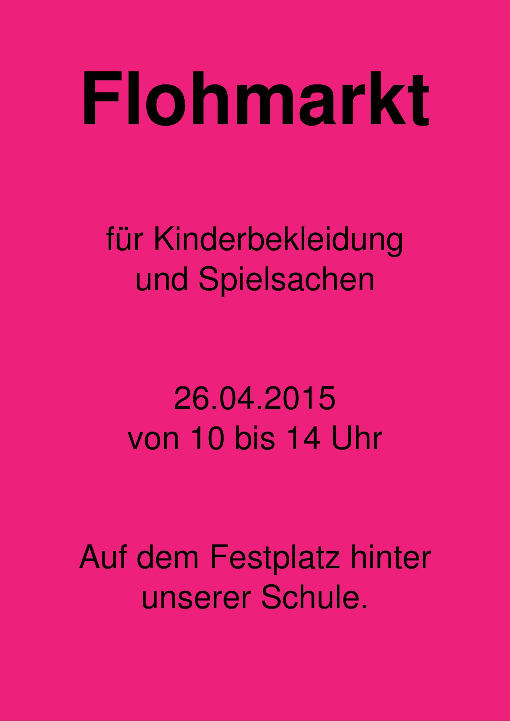 flyer  flohmarkt by chris