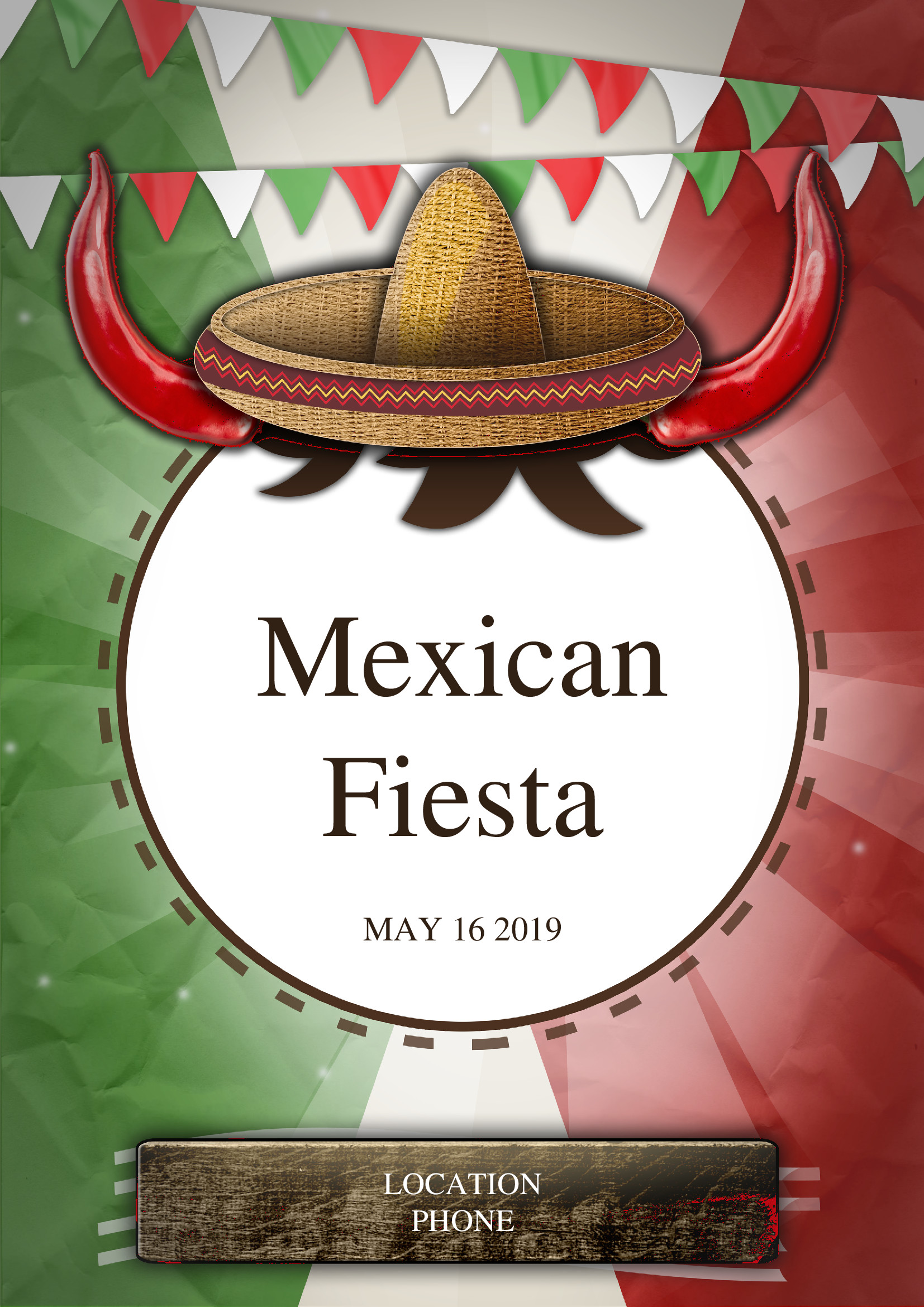 flyer  mexican fiesta party flyer by chris
