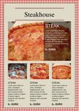 steakhouse menu card by chris