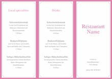 Menu Card Template  by chris