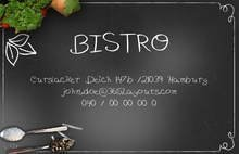 Bistro Visitenkarten Vorlagen by chris