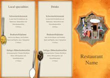 Indian Restaurant Trifold Menu