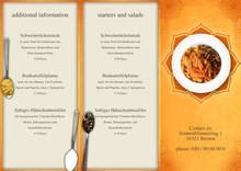 Indian Restaurant Trifold Menu by chris - page 1