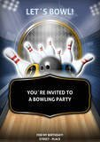 Bowling Party Flyer by chris
