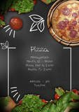 Italian Flavor Pizza Shop Flyer Template