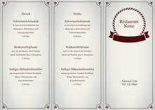 Trifold Menu by chris