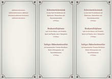 Trifold Menu by chris - page 1