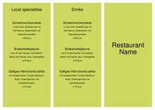 Bar Restaurant Takeaway Menu