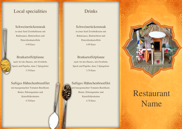 menu indian restaurant trifold menu by chris