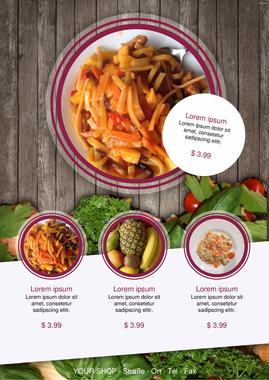 Captivating Restaurant Menu:Restaurant Food Flyer Template