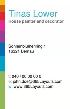 Visitenkarten Haus Maler Business Card
