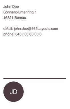 Business Card Visitenkarte Elegant Und Schlicht By Chris