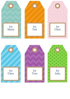 miscellaneous geschenk etiketten von chris. Black Bedroom Furniture Sets. Home Design Ideas